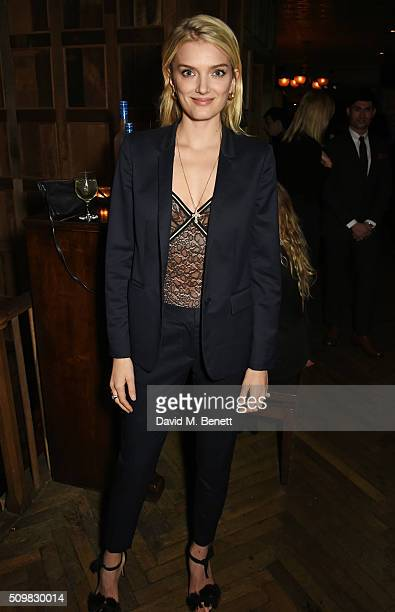 Lily Donaldson attends Harvey Weinstein's pre-BAFTA dinner in partnership with Burberry and GREY GOOSE at Little House Mayfair on February 12, 2016...