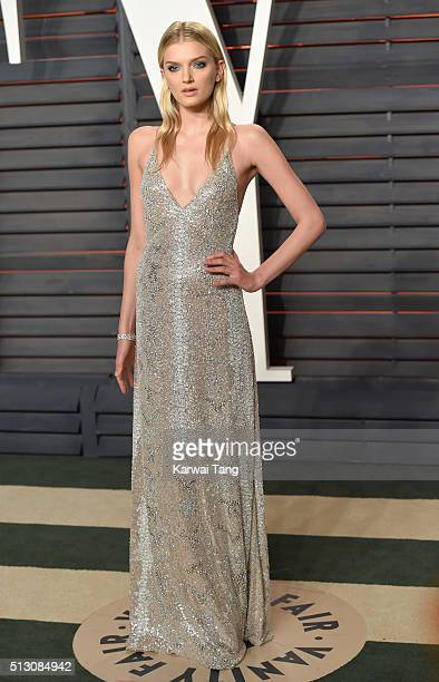 Lily Donaldson attends the 2016 Vanity Fair Oscar Party Hosted By Graydon Carter at Wallis Annenberg Center for the Performing Arts on February 28,...