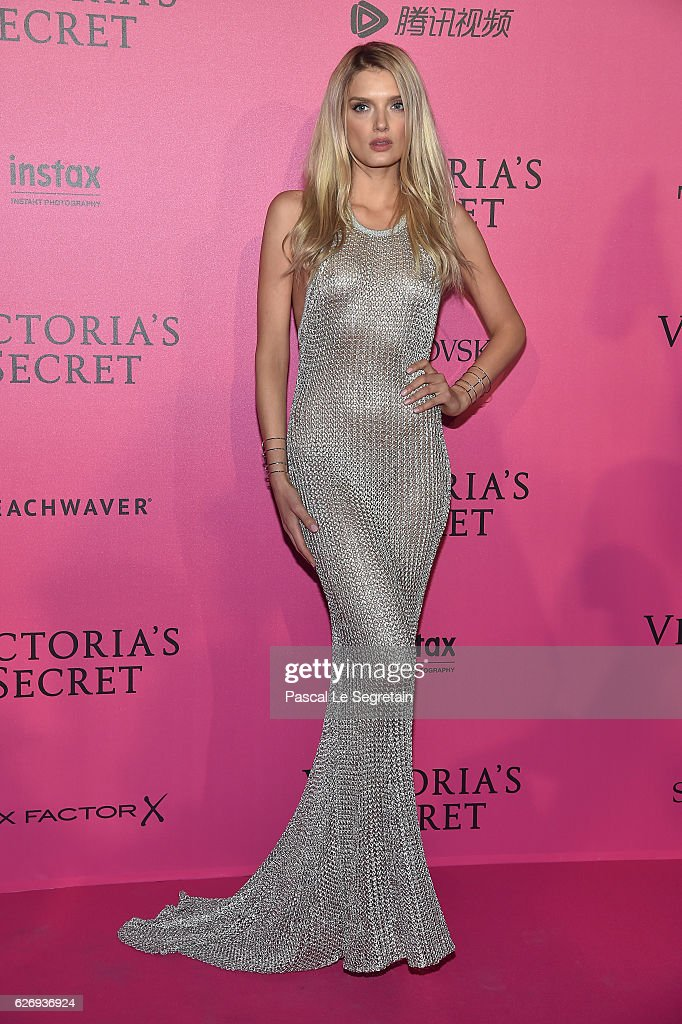 Lily Donaldson attends the 2016 Victoria's Secret Fashion Show after party on November 30, 2016 in Paris, France.