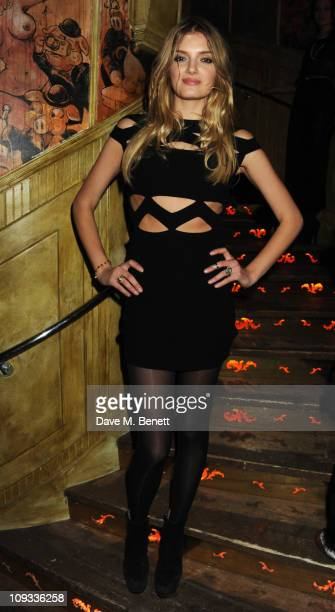 Lily Donaldson attends the AnOther Magazine 10th Anniversary Ball at The Box on February 21 2011 in London England