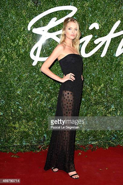 Lily Donaldson attends the British Fashion Awards at London Coliseum on December 1 2014 in London England