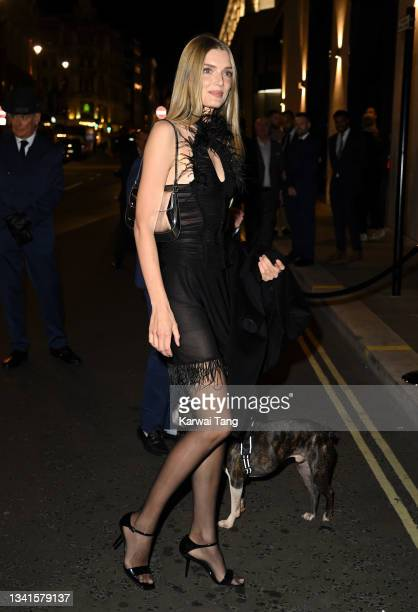 Lily Donaldson attends the British Vogue x Tiffany & Co. Fashion and Film party at The Londoner Hotel on September 20, 2021 in London, England.