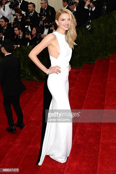 Lily Donaldson attends the 'Charles James Beyond Fashion' Costume Institute Gala at the Metropolitan Museum of Art on May 5 2014 in New York City