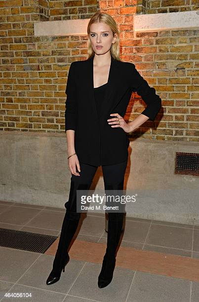 Lily Donaldson attends the Coach X Serpentine The Future Contemporaries Party at The Serpentine Sackler Gallery on February 21 2015 in London England