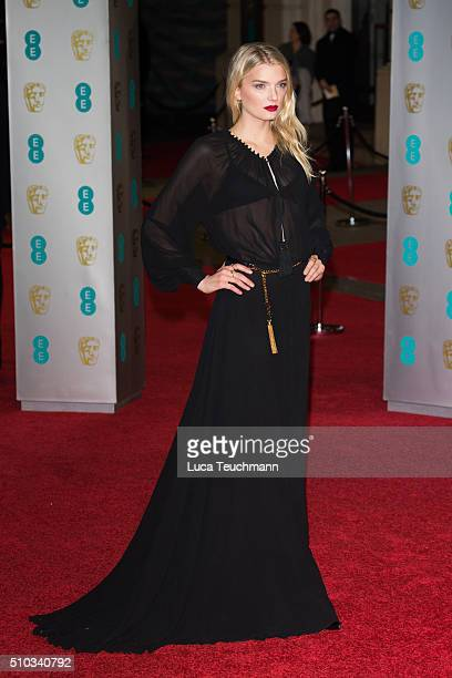 Lily Donaldson attends the EE British Academy Film Awards at The Royal Opera House on February 14, 2016 in London, England.