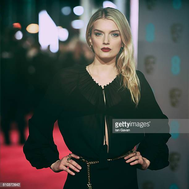 Lily Donaldson attends the EE British Academy Film Awards at The Royal Opera House on February 14 2016 in London England