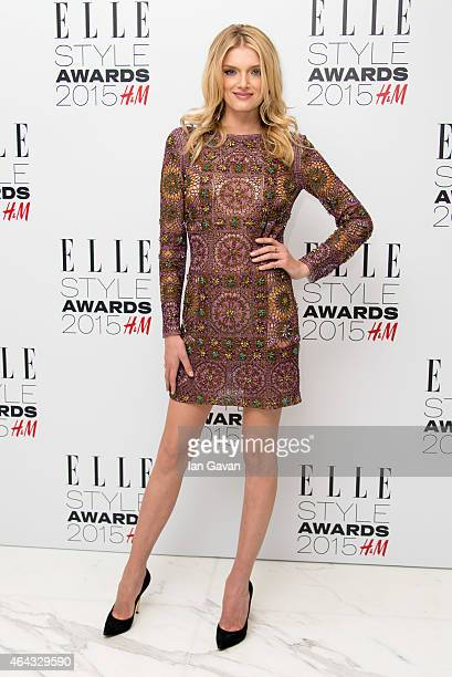 Lily Donaldson attends the Elle Style Awards 2015 at Sky Garden @ The Walkie Talkie Tower on February 24 2015 in London England