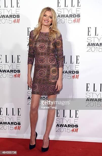 Lily Donaldson attends the Elle Style Awards 2015 at Sky Garden @ The Walkie Talkie Tower on February 24 2015 in London UK