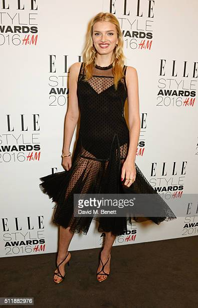 Lily Donaldson attends The Elle Style Awards 2016 on February 23 2016 in London England