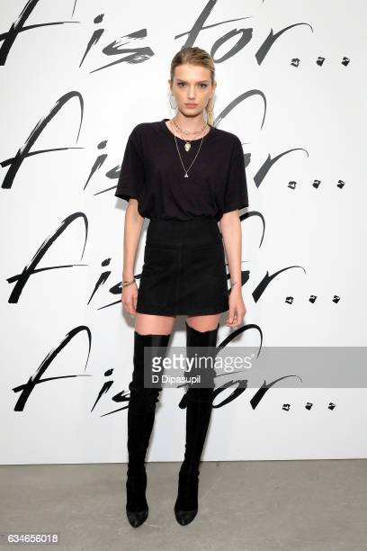 Lily Donaldson attends the F Is For Fendi New York Fashion Week Party on February 10 2017 in New York City