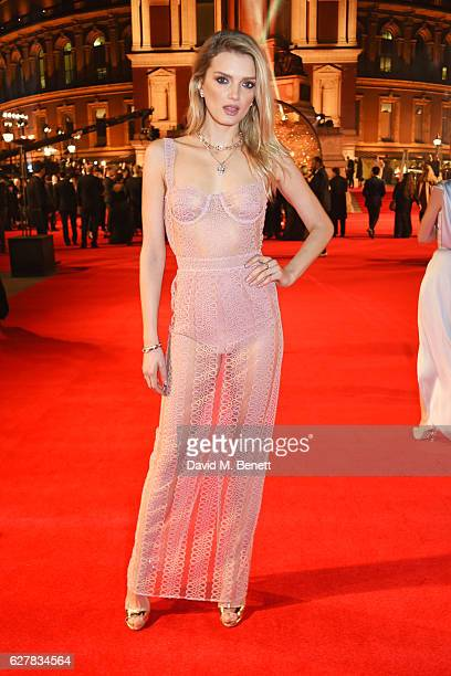 Lily Donaldson attends The Fashion Awards 2016 at Royal Albert Hall on December 5 2016 in London United Kingdom