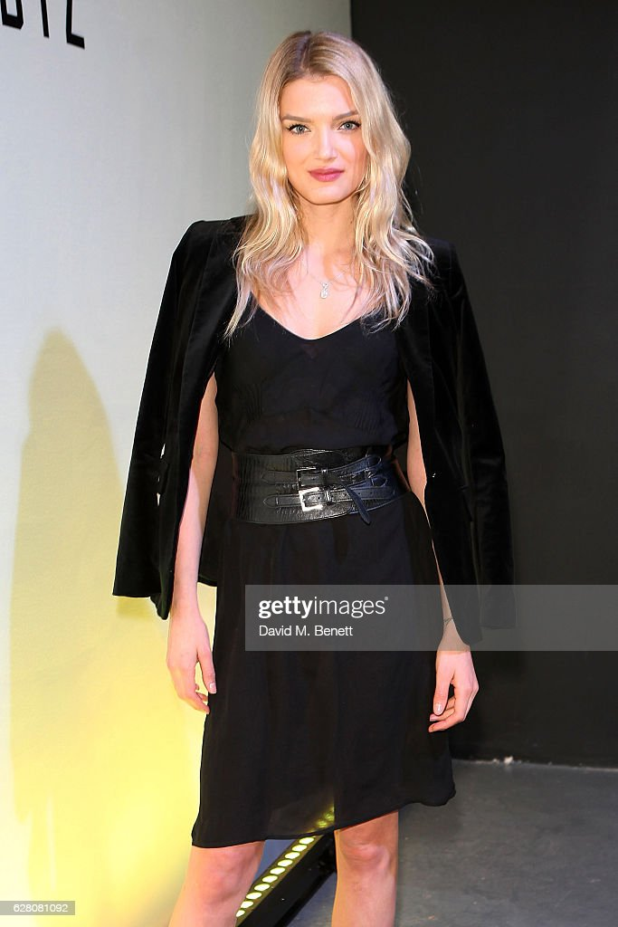 Lily Donaldson attends the launch of the 'Faberge Visionnaire DTZ', Faberge's new timepiece, at South Bank Tower on December 6, 2016 in London, England.