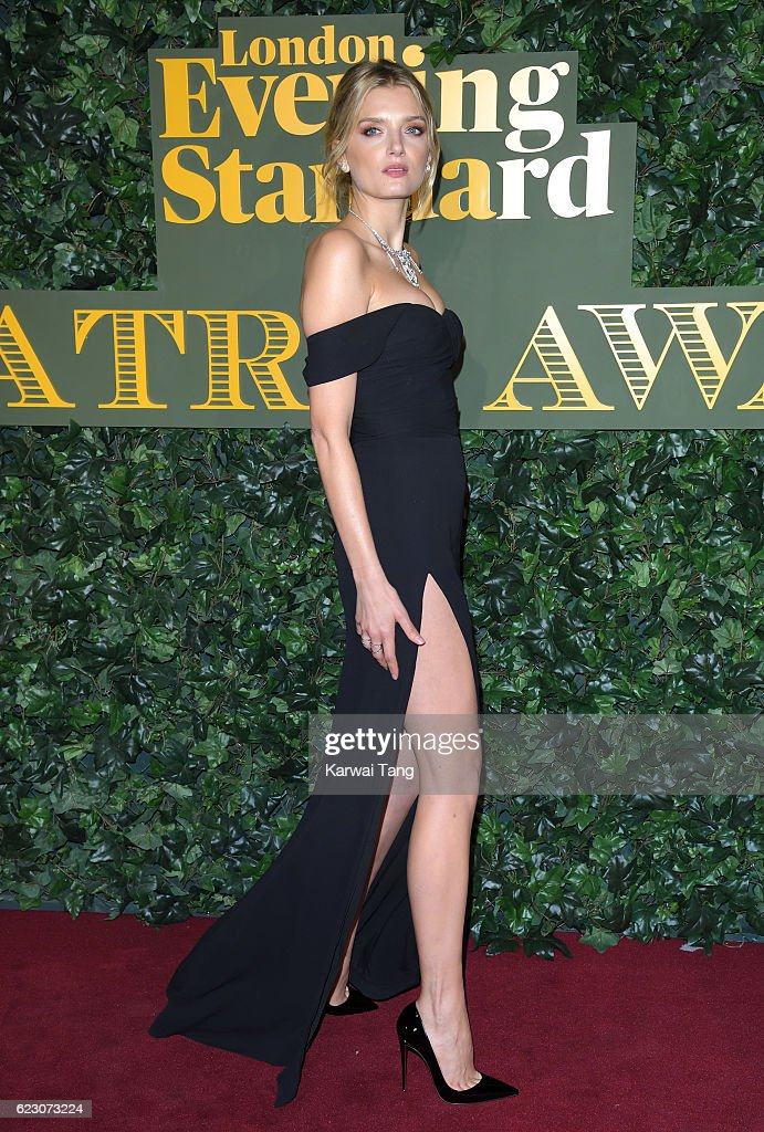 Lily Donaldson attends The London Evening Standard Theatre Awards at The Old Vic Theatre on November 13, 2016 in London, England.