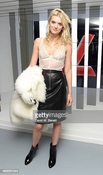 Lily Donaldson attends the Louis Vuitton Series 3 VIP launch during London Fashion Week SS16 on September 20 2015 in London England