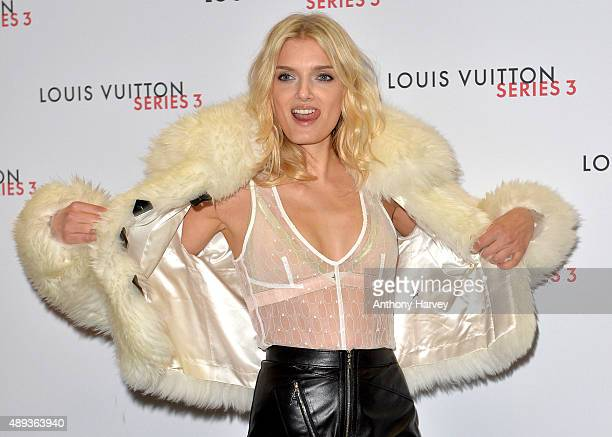 Lily Donaldson attends the Louis Vuitton Series 3 VIP Launch on September 20 2015 in London England
