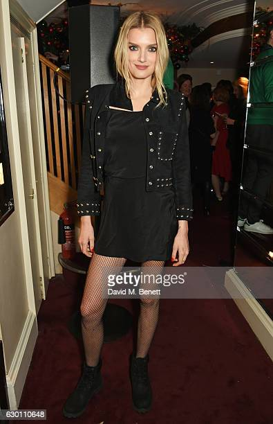 Lily Donaldson attends the LOVE Christmas Party hosted by Katie Grand and Poppy Delevingne at George on December 16 2016 in London England