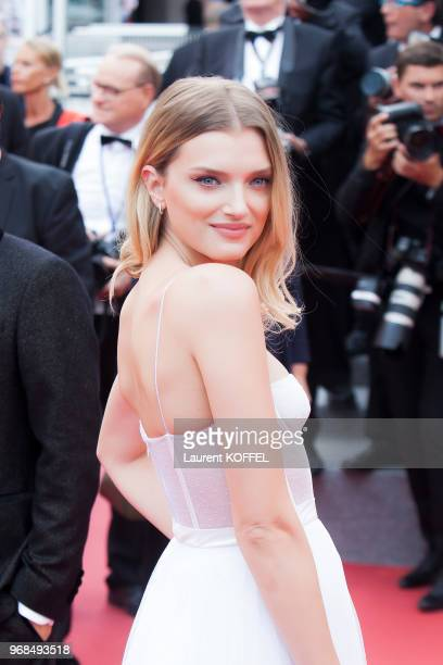 Lily Donaldson attends the 'Nelyobov ' screening during the 70th annual Cannes Film Festival at Palais des Festivals on May 18 2017 in Cannes France