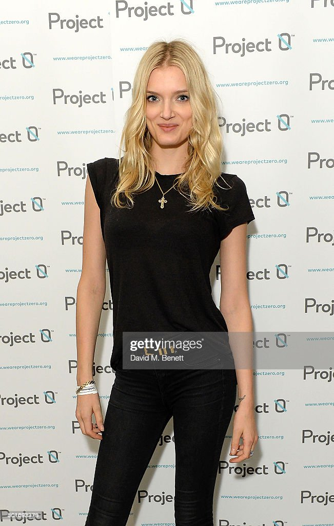 Lily Donaldson attends the Project-0 Wave Makers Marine Conservation concert at Scala on December 16, 2015 in London, England.