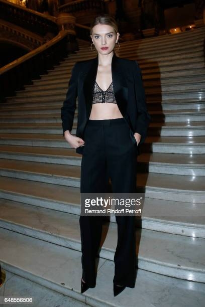 Lily Donaldson attends the Stella McCartney show as part of the Paris Fashion Week Womenswear Fall/Winter 2017/2018 on March 6 2017 in Paris France