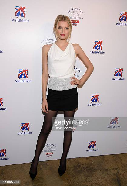Lily Donaldson attends the VisitBritain Countryside Collection Launch at 121 Varick Street on January 22 2015 in New York City