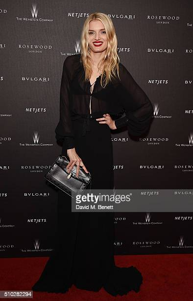 Lily Donaldson attends The Weinstein Company Entertainment Film Distributors Studiocanal 2016 BAFTA After Party in partnership with BULGARI GREY...