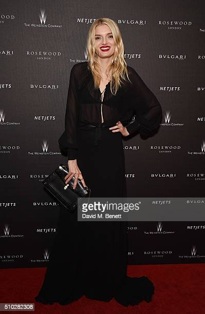 Lily Donaldson attends The Weinstein Company, Entertainment Film Distributors, Studiocanal 2016 BAFTA After Party in partnership with BULGARI, GREY...