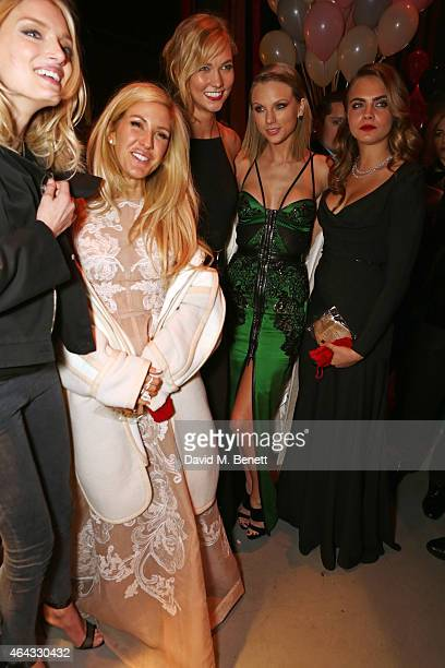 Lily Donaldson Ellie Goulding Karlie Kloss Taylor Swift and Cara Delevingne attend the The World's First Fabulous Fund Fair hosted by Natalia...