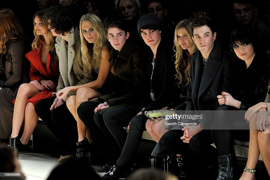 Burberry Prorsum Front Row - LFW Autumn/Winter 2011