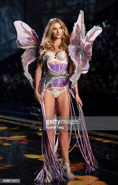 Lily Donaldson walks the runway at the annual Victoria's Secret fashion show at Earls Court on December 2 2014 in London England