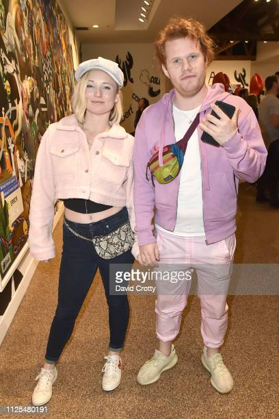 Lily Drew and Benjamin Miller attend Philip Colbert Solo Exhibition Opening At Saatchi Gallery Los Angeles Presented By Unit London at Saatchi...
