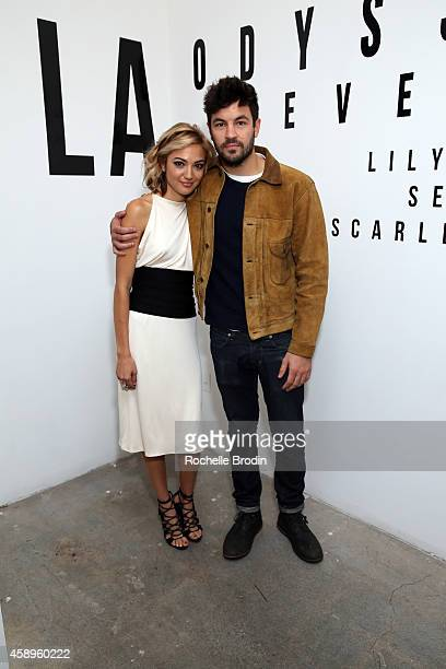 Lily Flores and Jordan Masterson attend the LA ODYSSEY Reverie Collaboration Shot By Lily Flores Serge Gil Scarlet Mann Hosted By Juliette Lewis on...