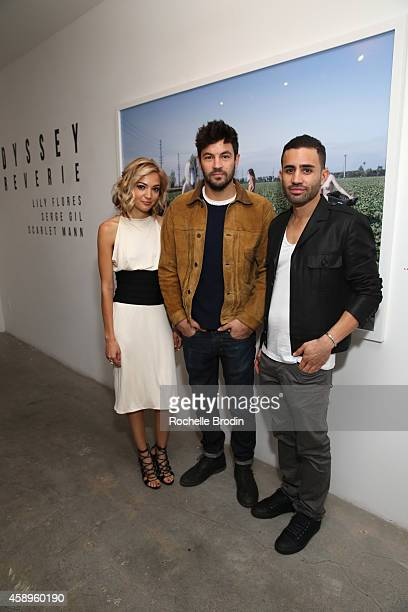 Lily Flores Jordan Masterson and Serge Gil attend the LA ODYSSEY Reverie Collaboration Shot By Lily Flores Serge Gil Scarlet Mann Hosted By Juliette...