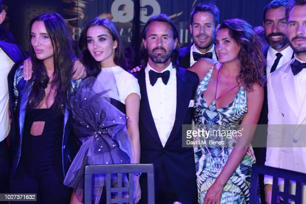 Lily Fortescue Amy Jackson Jay Rutland Jamie Redknapp Jessica Lemarie Robert Pires and Luke Sweeney attend the GQ Men of the Year Awards 2018 in...