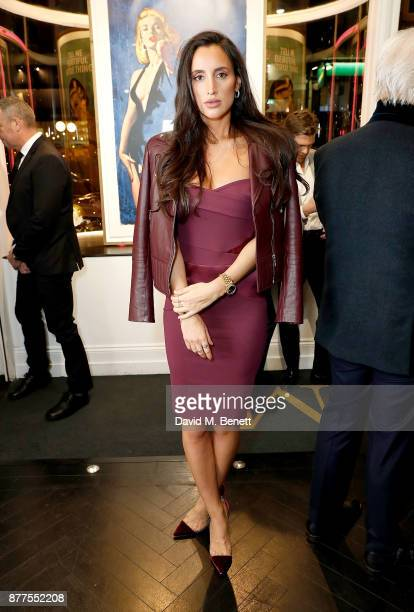 Lily Fortescue attends an intimate VIP private view for The Connor Brothers with catering by Michelin Starred chef Tom Sellers at Maddox Gallery on...