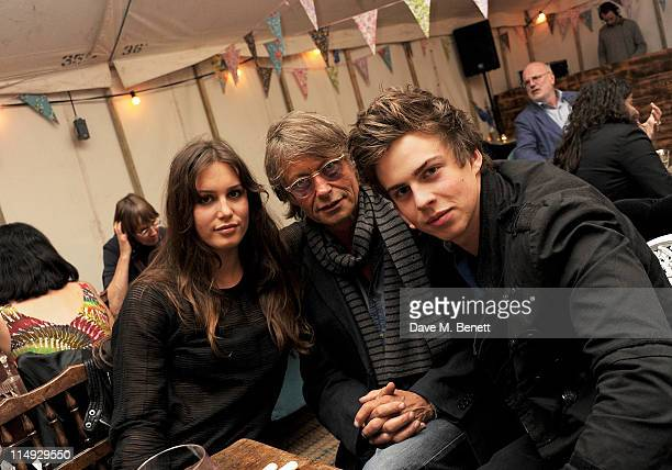 Lily India Robinson Bruce Robinson and Willoughby Robinson attend Range Rover's Hay Festival dinner hosted by Dylan Jones and Nick Jones on May 29...