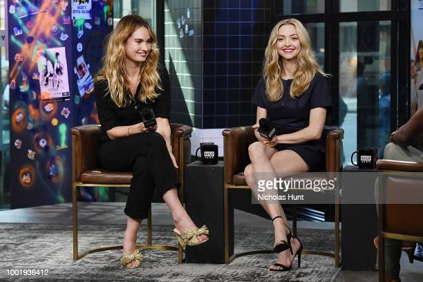 Lily James and Amanda Seyfried visit Build Studio on July 19 2018 in New York City