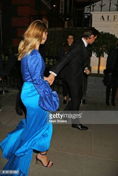 Lily James and Matt Smith arrive at the Dunhill GQ preBAFTA Filmmakers Dinner and Party Cohosted by Andrew Maag Dylan Jones at Bourdon House on...