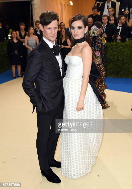 Lily James and Matt Smith attend the 'Rei Kawakubo/Comme des Garcons Art Of The InBetween' Costume Institute Gala at the Metropolitan Museum of Art...