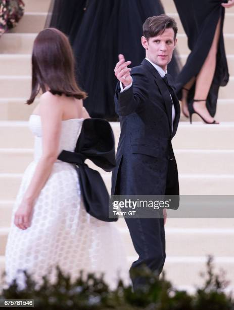 Lily James and Matt Smith attends the 'Rei Kawakubo/Comme des Garcons Art Of The InBetween' Costume Institute Gala at Metropolitan Museum of Art on...
