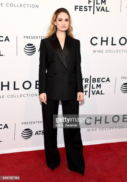 Lily James attends a screening of Little Woods during the 2018 Tribeca Film Festival at SVA Theatre on April 21 2018 in New York City