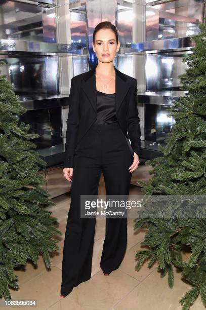 Lily James attends as Naomi Campbell and Matt Smith celebrate Close Your Eyes And Think Of Christmas in New York on November 19 2018 in New York City
