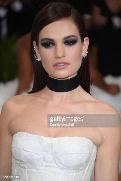 Lily James attends 'Rei Kawakubo/Comme des Garcons Art Of The InBetween' Costume Institute Gala Arrivals at Metropolitan Museum of Art on May 1 2017...