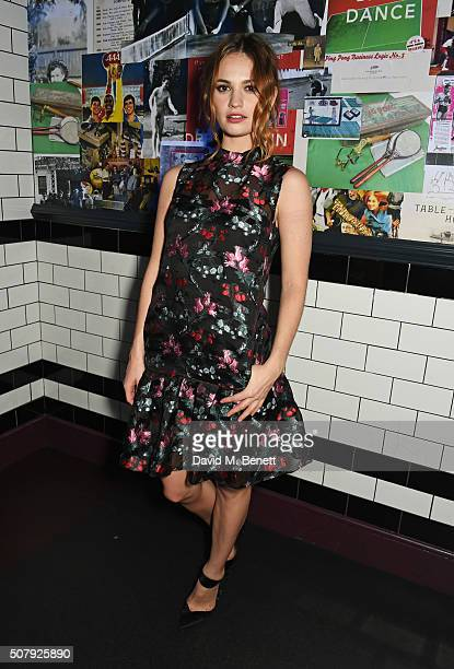 Lily James attends the after party following the European Premiere of 'Pride And Prejudice And Zombies' at Bounce Ping Pong on February 1 2016 in...