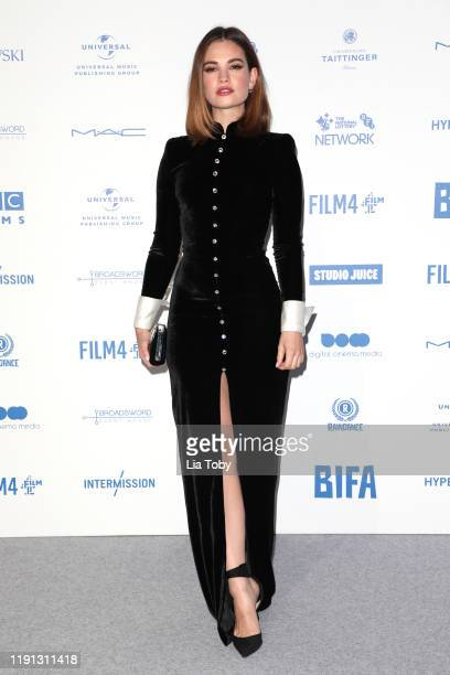 Lily James attends the British Independent Film Awards 2019 at Old Billingsgate on December 01 2019 in London England