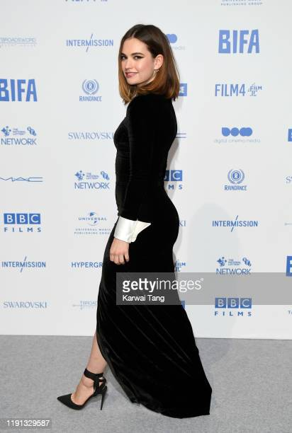 Lily James attends the British Independent Film Awards 2019 at Old Billingsgate on December 01, 2019 in London, England.
