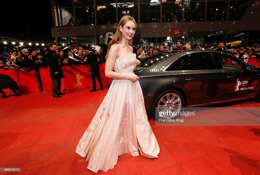 Lily James attends the 'Cinderella' Premiere - AUDI At The 65th Berlinale International Film Festival on February 13, 2015 in Berlin, Germany.