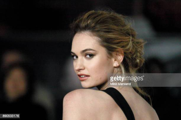 Lily James attends the 'Darkest Hour' UK premeire at Odeon Leicester Square on December 11 2017 in London England