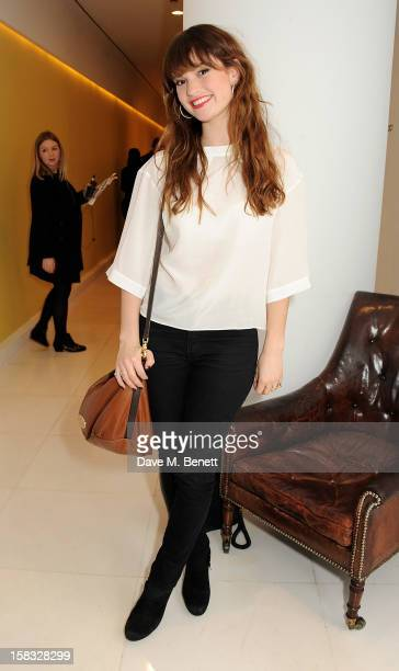 Lily James attends the English National Ballet Christmas Party at St Martins Lane Hotel on December 13 2012 in London England