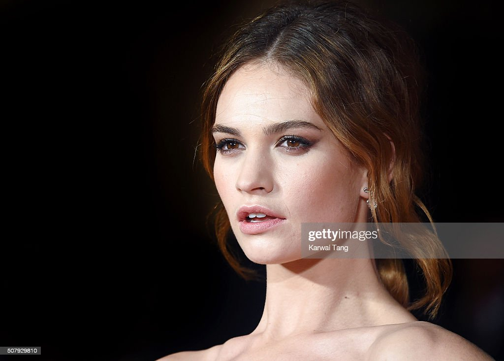 Lily James attends the European premiere of 'Pride And Prejudice And Zombies' at the Vue West End on February 1, 2016 in London, England.