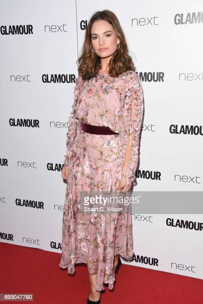 Lily James attends the Glamour Women of The Year awards 2017 at Berkeley Square Gardens on June 6 2017 in London England
